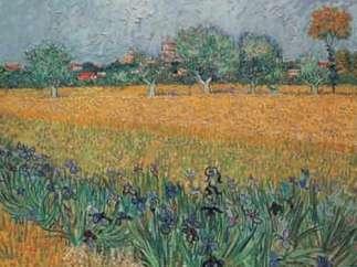 Vista de Arles con iris, de Van Gogh