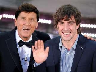 Gianni Morandi y Fernando Alonso