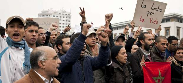 Protestas en Casablanca