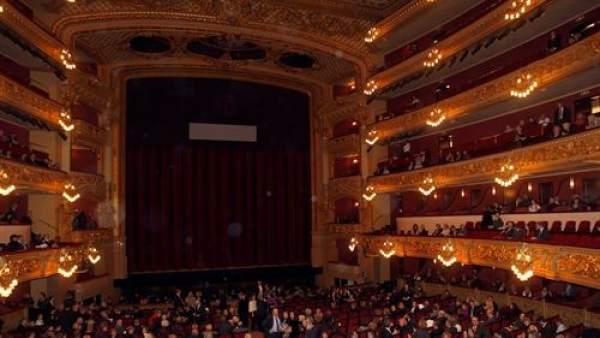 El gran teatro del Liceu de Barcelona.