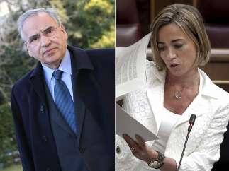 Alfonso Guerra y Carme Chacón