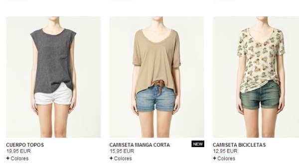 662cb2f6be5 Una imagen de la página web de venta online de Zara. Zara
