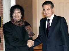 Gadafi y Zapatero