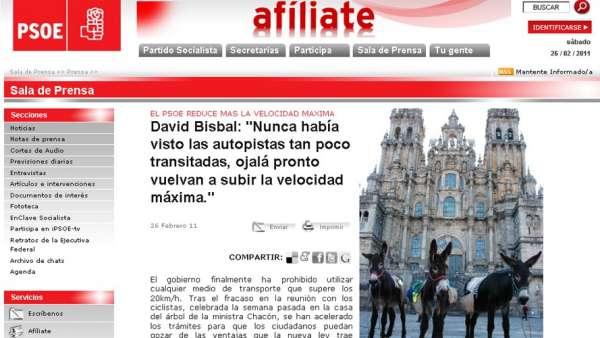 Web clon del PSOE