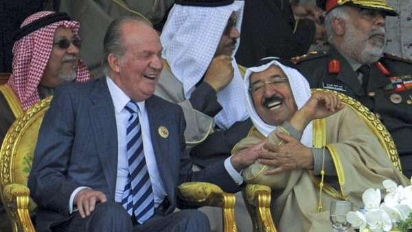 El rey Juan Carlos y Sabah Al Sabah