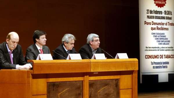 José María Rubio, Tomás Sánchez, Bonifacio García y Ángel T.Gago