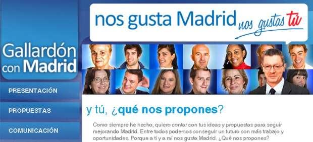 Web electoral de Gallardón