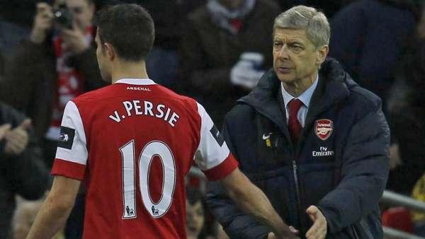 Robin Van Persie y Arsene Wenger
