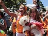 Un desfile de Carnaval en Copa Cabana, Brasil