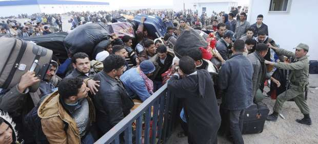 Tas Jedir, en la frontera entre Libia y Túnez