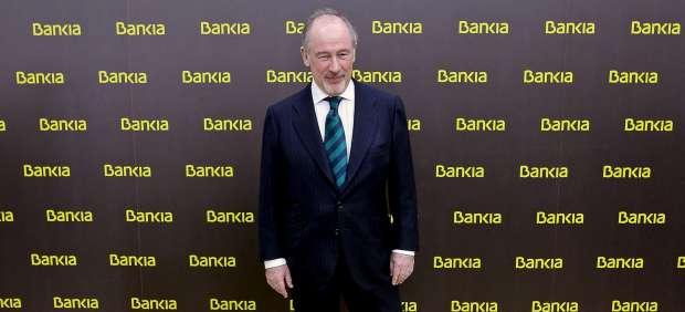 Rodrigo Rato en la presentación de Bankia