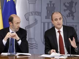 Alfredo Pérez Rubalcaba y Miguel Sebastián