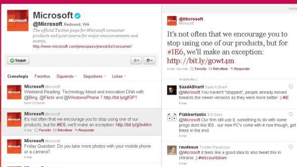 Twitter de Microsoft