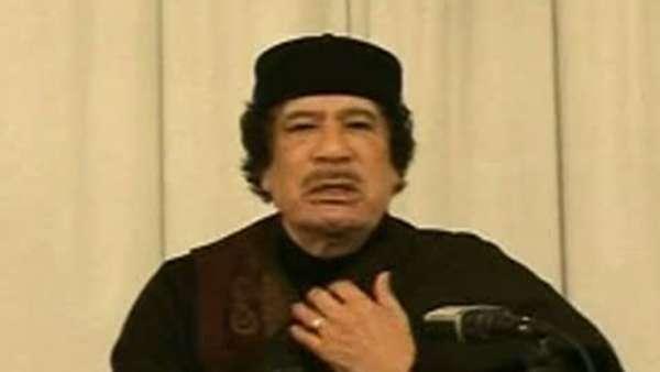 Gadafi, en la televisión