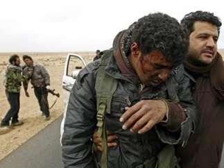 Rebeldes libios heridos