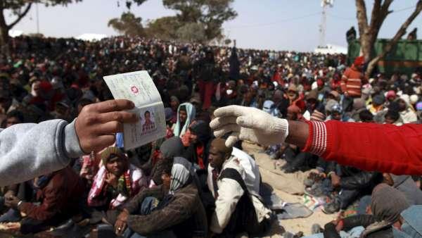 Refugiados en Libia