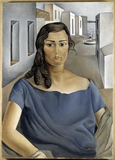 'Retrato de mi hermana', Salvador Dalí. Los cuadros expuestos son un análisis de cómo los tres jóvenes plantearon su acceso a la transformación creativa de su tiempo.