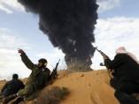 Rebeldes en Libia