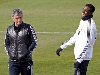 Mourinho y Adebayor