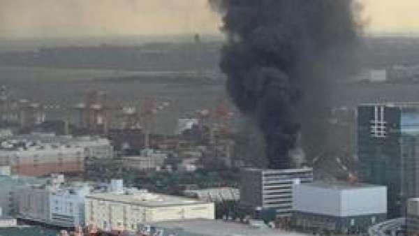 Fuego por el terremoto en Tokio