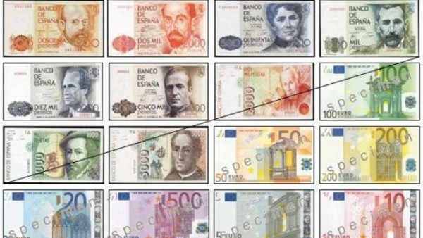 Euros y pesetas