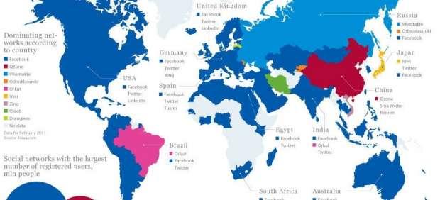 Facebook domina, pero ¿cuáles son las redes sociales más populares en cada país?
