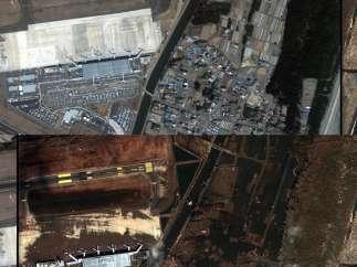 Aeropuerto de Sendai, antes y después
