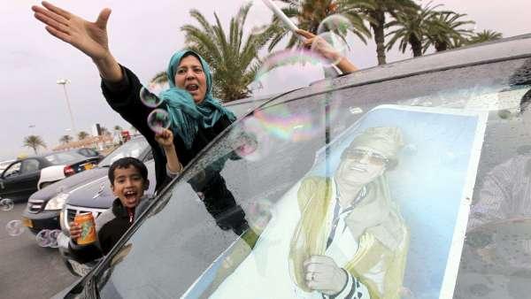 Apoyo a Gadafi