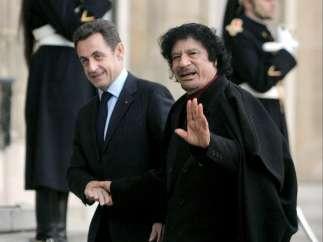 Gadafi y Sarkozy