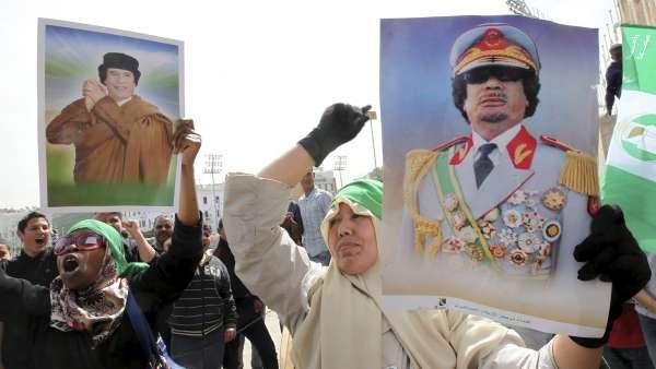 Simpatizantes de Gadafi