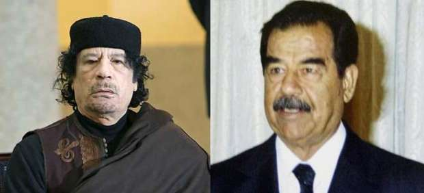 Gadafi y Husein