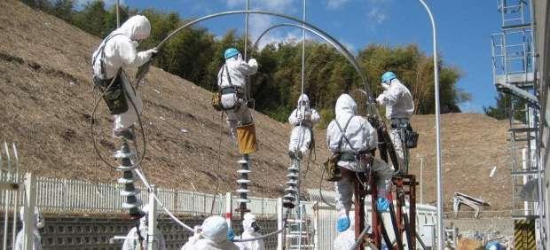 Trabajadores de Fukushima