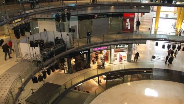 El centro comercial de las Arenas.