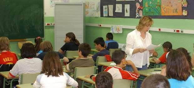 Ni�os en un aula