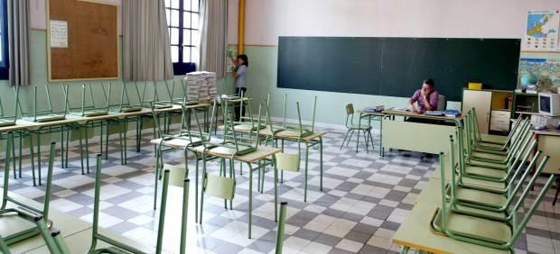 Una aula de un colegio