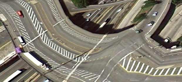 Distorsión de carreteras y puentes en el Bronx