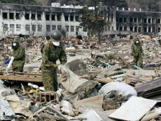 Búsqueda de víctimas del terremoto