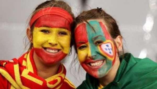 selección española y portuguesa