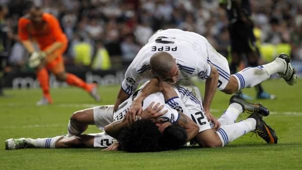 Los jugadores del Real Madrid