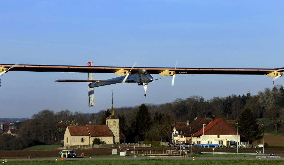 El avi n solar viaja desde un aer dromo suizo hacia madrid - Energia solar madrid ...