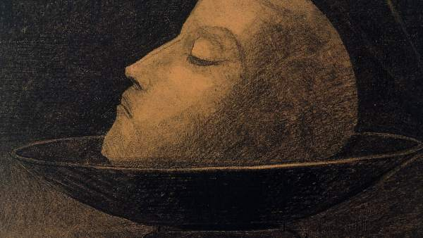 """Cabeza de mártir"" - Odilon Redon"