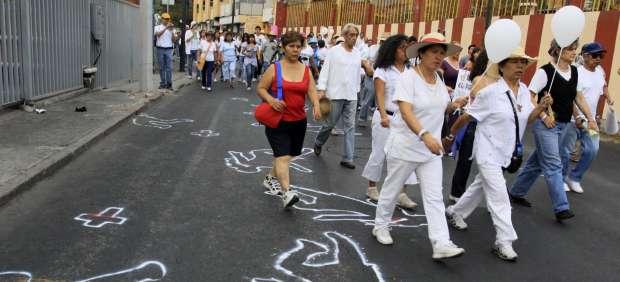 Marchas contra los crímenes de la guerra al narco en México