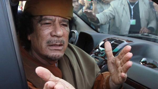 Gadafi en Trípoli