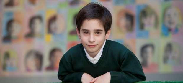 Manuel, el minicandidato, en su colegio del Eixample.