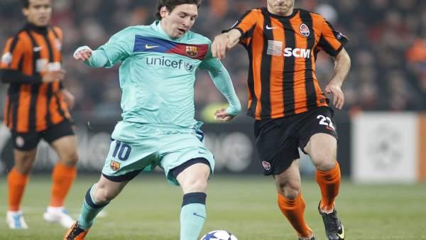 Messi y Mkhitaryan