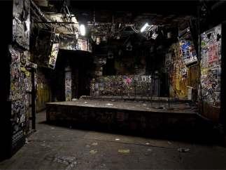 El escenario del CBGB