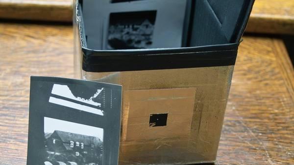 Una cámara estenopéica fabricada en una lata