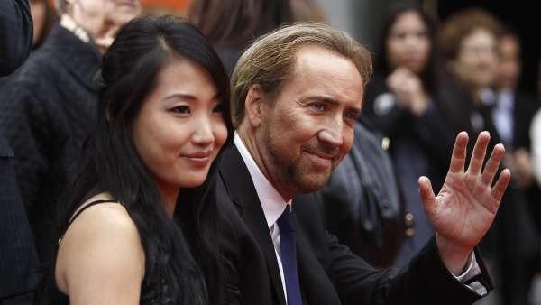 Nicolas Cage y su mujer
