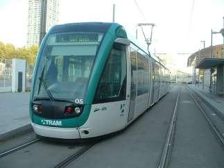 El tranvía en Barcelona