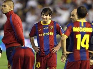 El Barça. derrotado